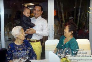 Tiệc thôi nôi bé Bảo Tú, con của ông chủ dệt may Thái Tuấn