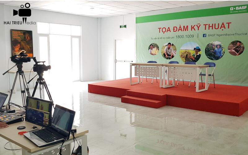 Dịch vụ quay phim phát trực tiếp live stream tại tphcm - Tọa đàm kỹ thuật công ty BASF VN